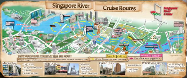 Singapore River Cruise route map.JPG